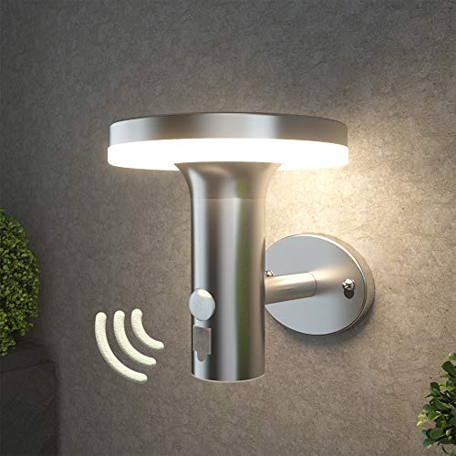 NBHANYUAN ソーラーライト LED センサーライト 屋外ウォールライト 3つ知能モード 75-400-600lm 暖色 防水 防犯ライト 屋外 庭 玄関 ガレージ IP44
