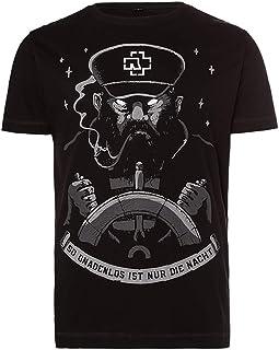 Rammstein Herren T-Shirt Seemann Offizielles Band Merchandise Fan Shirt schwarz mit mehrfarbigem Front und Back Print