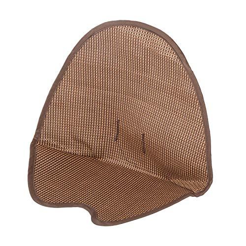 Raguso Estera cómoda de la Silla del algodón del cojín del Cochecito de la Fibra de la Seda del Hielo para Mantener al bebé cómodo(Rattan Seat Brown)