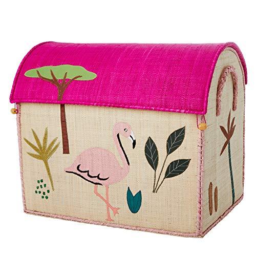 Rice Aufbewahrungstruhe Spielzeugaufbewahrung Dschungel Pink groß