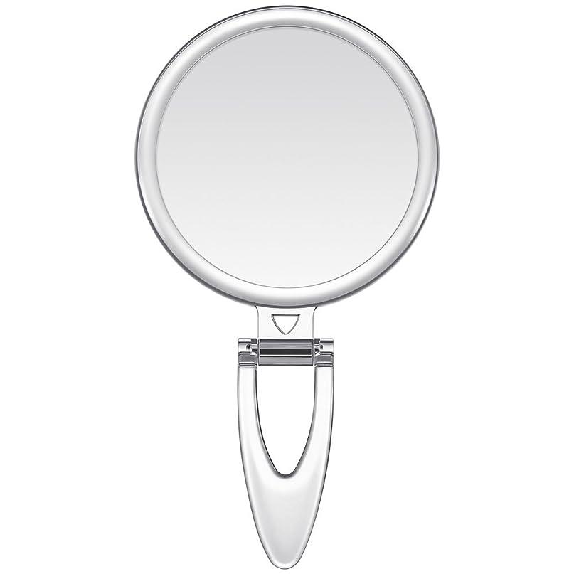 訴える絶滅した銀河Lavany 手鏡 鏡 拡大鏡 両面コンパクトミラー 化粧鏡 10倍鏡付き 手持ち スタンド 壁掛け仕様 (S(3.2インチ))