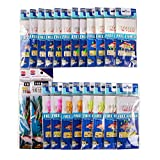 FREE FISHER Assorted 22/4 Packs Freshwater/Saltwater Fishing Lumious Bait Rigs Fish Skin/Feather Hooks (22-Packs)