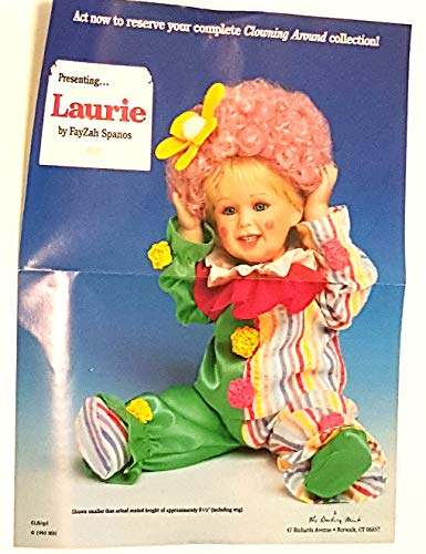Danbury Mint Clowning Around Collection Laurie Porcelain Doll by FayZah Spanos