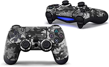 Sololife Gray Camo PS4 Controller Skin Stickers for Sony PlayStation 4 DualShock Wireless Controller