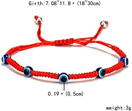 Adjustable 3 Beads Turkish Blue Evil Eye Red String Thread Bracelet Lucky Rope Bracelet Couples Lovers Chakra Bracelets Jewelry