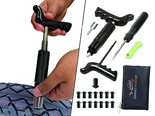 GRAND PITSTOP Tubeless Tire Puncture Repair Kit...