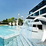 Muxing Fuente de piscina, cascada, piscina, fuente para ducha en verano, pequeña decoración en el jardín, fiesta (250 x 105 mm/650 x 300 mm/600 x 300 mm) (250 x 105 mm)