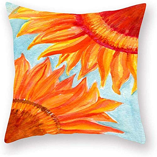 Mesllings Shiny Sunflower Holiday Sunshine Flowers Farmhouse Couch Cushion Cover Super Soft Standard 45x45cm Pillow Protectors