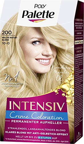 Palette Intensiv Creme Coloration 200/10-0 Helles Naturblond, 3er Pack(3 x 115 ml)