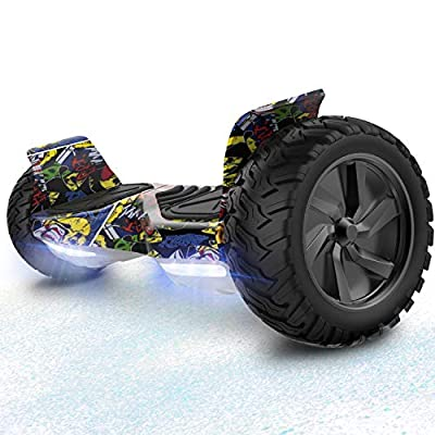 RCB HoverBoard 8.5 inch wheels all terrain Segway Built in Bluetooth LED With powerful engine Self Balancing Scooter Off-Road Electric Scooter (Hip hop)
