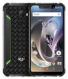 """ZOJI Z33 Smartphone all'aperto 4G LTE Android 8.1 - Schermo da 5,85""""HD + Notch con visualizzazione completa da 19: 9, IP68 Impermeabile/Antipolvere, Quad Core 1.5GHz 3 GB + 32 GB,verde"""