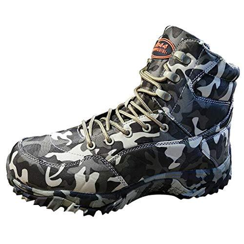 Herren Schuhe Kolylong® Männer Militärstiefel Camouflage Schuhe Taktische Stiefel Camouflage Schuhe Outdoor Sports Laufschuhe Safety Warm Stiefel Hoch Top Militär Camping Wandern Schnürer Sneaker