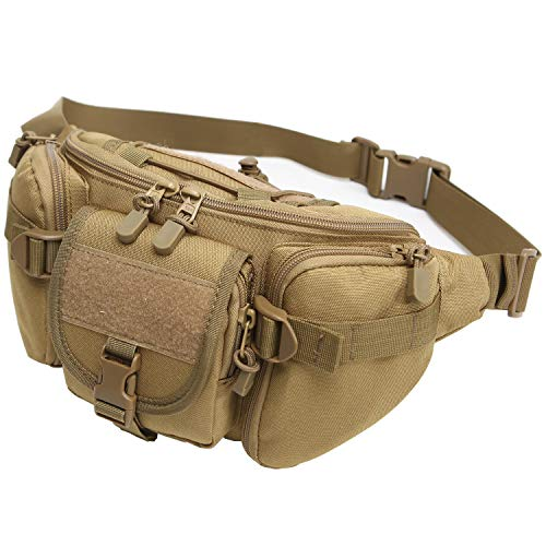 DYJ Utility Multipurpose Molle Tactical Waist Bag, Coyote Brown