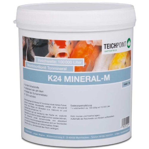 K24 Mineral - M, montmorillonit Tonmineral mit Kalzium, 1 Kg für Teich und Aquarium