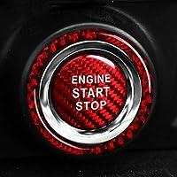 スバルBRZトヨタ86 2013-2019オートアクセサリーインテリアカーボンファイバーカーエンジンスタートストップイグニッションキーリングステッカー (Ring Red)