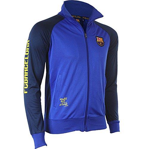 Trainingsjacke mit Reißverschluss Barcelona, offizielle Kollektion von FC Barcelona, Kindergröße, für Jungen 14 Jahre blau