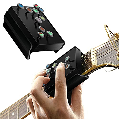 Qudodo Guitar Teaching Aid,Guitar Trainer Practice Acoustic Guitar Accessories Chord Assistant for Guitar Lover Beginner Good Gift
