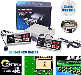 Consola Classic Mini Manija de control doble + salida AV- incorporada en 620 videojuegos retro