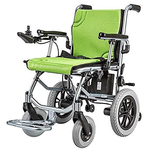 Adulto silla de ruedas eléctrica de ultra portátil plegable silla de ruedas eléctrica pesa sólo 35 libras (incluyendo la batería 10A de litio) 190W 2 motor (máximo 4 mph) puede correr hasta 16 millas
