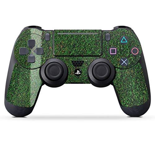 DeinDesign Skin kompatibel mit Sony Playstation 4 PS4 Slim Controller Folie Sticker Kreisliga Fußball Rasen
