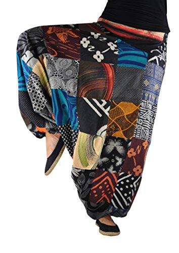 Pantalones de Harén virblatt para hombre y mujer, pintados a mano y tejido a mano, diseño étnico, atrapasueños