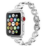 Moretek Armbänder 38MM für Apple Watch, Zubehör Edelstahl Metall Vogue-Frauen-Damen Kristall...