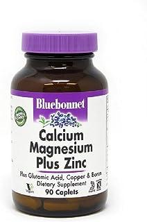 BlueBonnet Calcium Magnesium Zinc Caplets, 90 Count