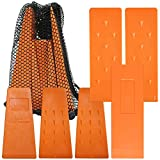 Cold Creek Loggers Orange Spiked Tree Wedges for Tree Cutting Falling, Bucking, Felling Wedges Chainsaw Loggers Supplies, 3-5.5' and 3-8' Wedges Plus Free Storage Bag Made in USA!