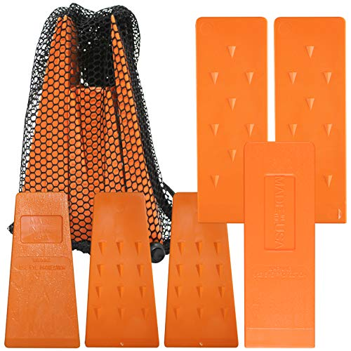 Cold Creek Loggers Orange Spiked Tree Wedges for Tree Cutting Falling, Bucking, Felling Wedges Chainsaw Loggers Supplies, 3-5.5