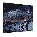 JIANSHAN Pintura al óleo para colgar bajo las estrellas, para decoración de pared, dormitorio, sala de estar, oficina, 16 x 50 cm (sin marco)