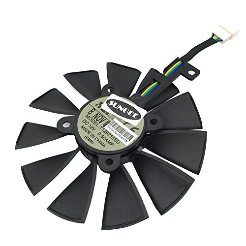 General 88MM T129215SU 6-Pin DC 12V 0.50A Cooling Fan For ASUS STRIX Raptor GTX980Ti R9 390X R9 390 GTX1060 GTX1070 GTX1080 RX480 Graphics Card Cooler Cooling Fans (FAN-C (1Pcs))