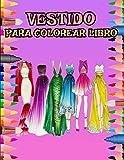 VESTIDO PARA COLOREAR LIBRO: 100 páginas; Varios vestidos, camisetas, sombreros que puedes pintar ...