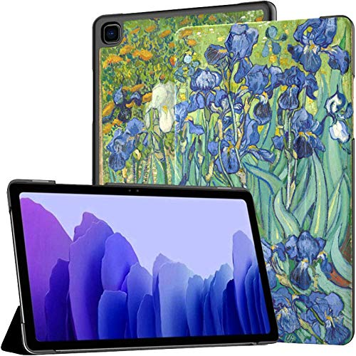 Vincent Van Gogh Painting Irises Growing In A Gard Funda para Galaxy Tab A Galaxy Tab A7 Funda para Galaxy Tab A7 10.4 de 10,4 Pulgadas Funda para Galaxy Tab A7 10.4 con activ