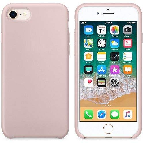 CABLEPELADO Funda Silicona iPhone 6 Textura Suave Color Rosa Claro