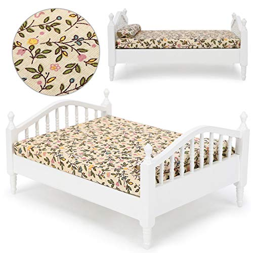 Emoshayoga Mini Modelo de casa de muñecas Accesorio de casa de muñecas para Que los niños enciendan la imaginación(Bedroom with Big Bed)