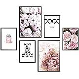 Heimlich® Premium Poster Set | Stilvolles Set mit passenden Bilder als Wohnzimmer Deko | 2 x DIN A3 & 4 x DIN A4   ca. 30x40 & 20x30 | Auch mit Bilderrahmen » Coco «