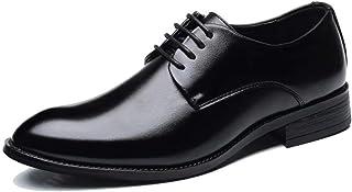 [hitstar] メンズ 革靴 ビジネスシューズ カジュアル革靴 紳士靴 レースアップシューズ ローカット 外羽根 ストレートチップ 滑り止め 通気 24.0-29.0