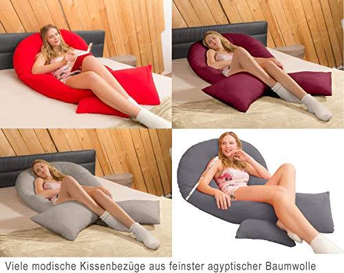 Traumreiter Jumbo XXL Seitenschläferkissen Schwangerschaftskissen U Form Körperkissen Seitenschläfer Kissen Full Body Pillow