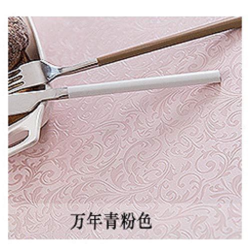 ShiyueNB Europees tafelkleed, waterdicht, anti-verbranding, oliebestendig, wegwerp, PU-tafelkleed, hotel, restaurant, groot rond tafelkleed, tafelkleed 280cm (Spleißen) Altijd groen roze