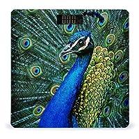 美しい動物の孔雀 LCDディスプレイ付き高精度スマートフィットネススケール体重デジタルバスルームボディスケール