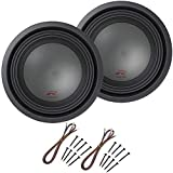 Alpine R-W10D4 Car Audio Type R Dual 4 Ohm 1500 Watt 10' Subwoofers with Sub Install Kit Package