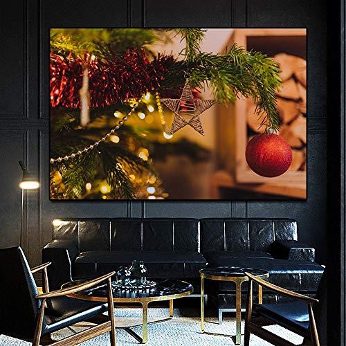 Wehoiweh Cuadro Decorativo Campana de acción de Gracias navideña Lienzos en la Pared decoración de la Sala de Estar Cuadros de ParedPóster (70x100cm) 28'x39 Sin Marco