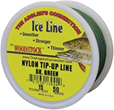 Woodstock Line TU-50-30-B No. 30 Tip-Up Line, Black, 50-Yard