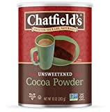 Chatfield's Cocoa Powder, Unsweetened, Vegan, Gluten-Free, 10 Ounce Canister, 1-Pack