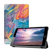 MAITTAO Huawei MediaPad T3 8.0 Case KOB-L09/KOB-W09,Slim Leather Folio Smart-Shell Stand Magnetic Cover for Huawei Mediapad T3 8.0 inch 2017 Released Tablet/Honor Play Pad 2 8'', Creative Brain 7