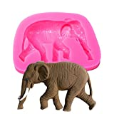 Silikonform Elefant, 3D-Form, Fondant, Kerzen, Schokolade, Seife, Bastel- und Backzubehör
