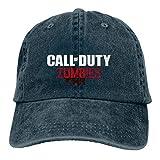 N / A Call of Duty Zombies - Gorra de cowboy de algodón, unisex, para todas las estaciones, cómoda y transpirable azul marino Talla única