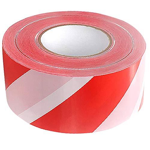 Absperrband Rot Weiß Flatterband Warnband 500 Meter Trassenband Absperrungsband Beidseitig bedruckt 500m x 75mm