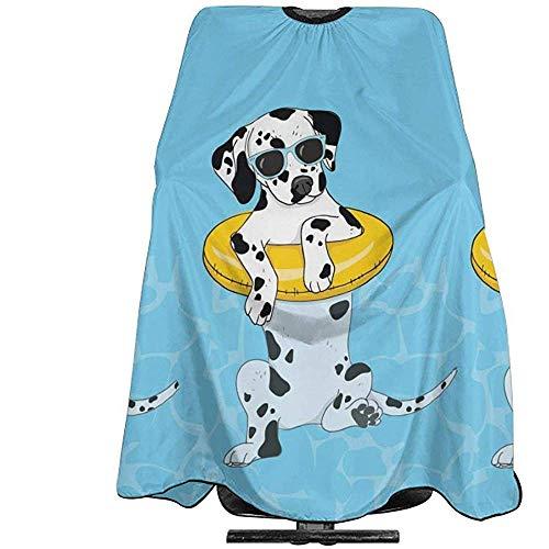 Haarsnit Cape Grappige Hond Met Zwemmen Cirkel In Zwembad Doek Haar Snijden Kapper Supplies Tool Salon Schort Cape Kapper Capes Kapsel Cape 140X168Cm