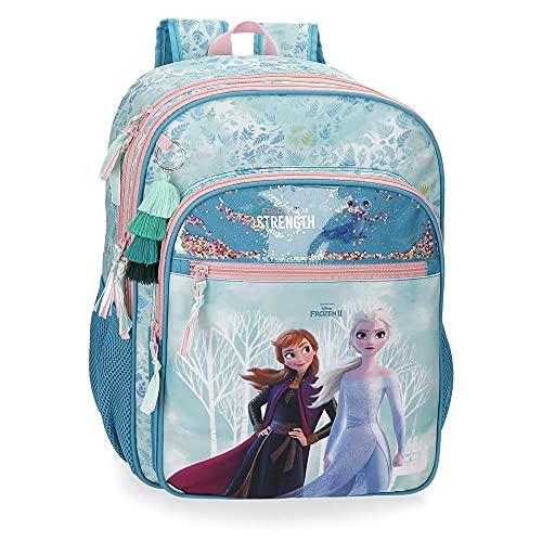 Disney Frozen Die Eiskönigin Find Your Strenght An Trolley anpassbarer Rucksack Blau 32x42x13 cms Polyester 20.16L